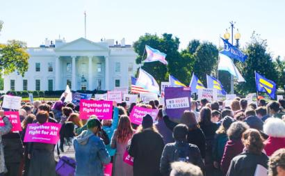 Manifestação pelos direitos trans. Washington, 2018. Foto de Ted Eytan/Flickr.