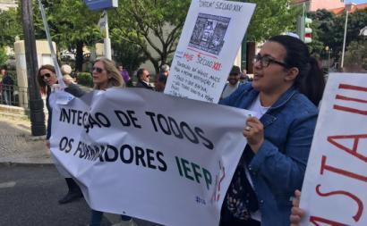 Formadores na manifestação do Primeiro de Maio. Foto da APF.