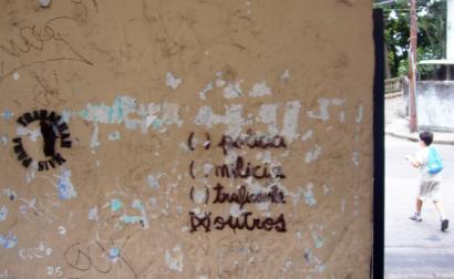 Rio de Janeiro. Pintura na parede. Foto de Luis Cordova.