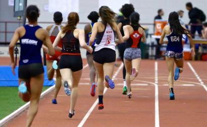 Corrida de atletismo feminina