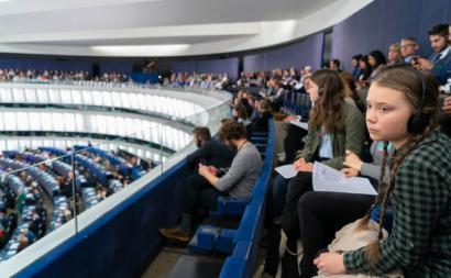 Greta Thunberg no Parlamento Europeu