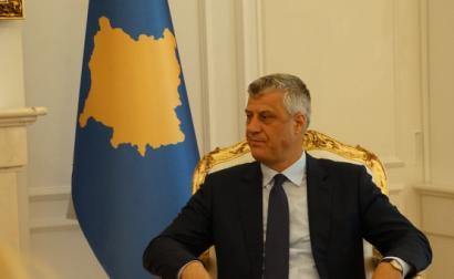 Hashim Thaçi em 2017. Foto do Ministério Estónio dos Negócios Estrangeiros/Flickr.