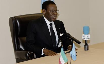Teodoro Obiang, presidente da Guiné Equatorial.