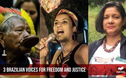 Marisa apresenta candidatura de Marielle, Claudilice e Raoni ao Prémio Sakharov
