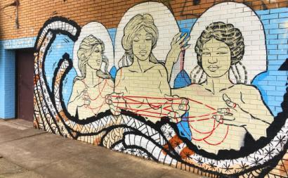 Mural sobre mulheres. Foto publicada na Contretemps de N. O. Bonzo.