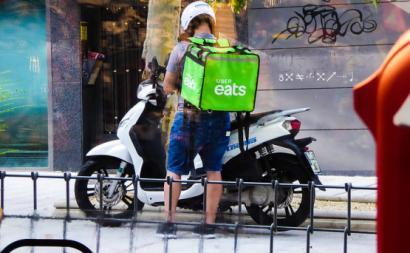 Distribuidor da Uber Eats