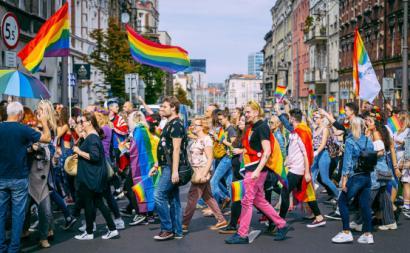 Marcha pela Igualdade em 2019 na cidade polaca de Katowice.