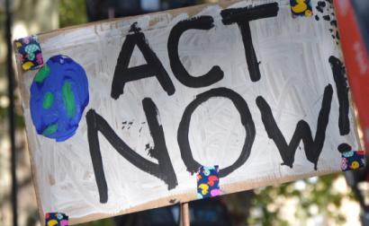 Protesto pela justiça climática. Foto: Valerio Donfrancesco/Flickr.