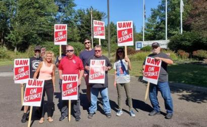 Trabalhadores da General Motors em greve. Outubro de 2019.