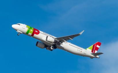 Avião da TAP. Foto de Markus Eigenheer/Flickr.