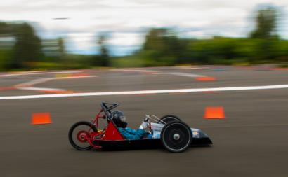 carro elétrico em corrida