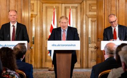 conferência de imprensa com Boris Johnson