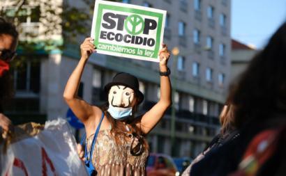 "cartaz ""Stop Ecocídio"""
