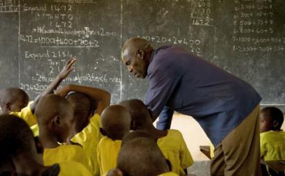 Sala de aula em África