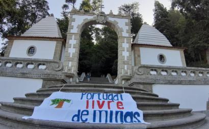 Protesto contra as minas de lítio. Setembro de 2019. Foto de Movimento Anti-Lítio de Braga.