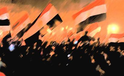 Revolta na Praça Tahrir, no Egito, 2012.