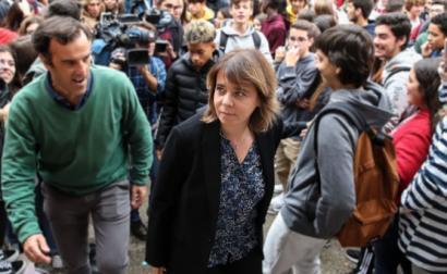 Catarina Martins visita Escola Secundária José Afonso.