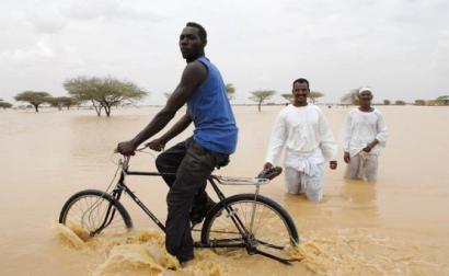 Cheia no Sudão.