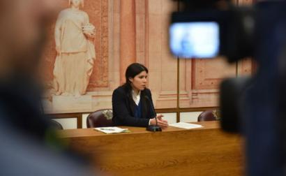 Mariana Mortágua no Parlamento. Foto do Grupo Parlamentar do Bloco de Esquerda.