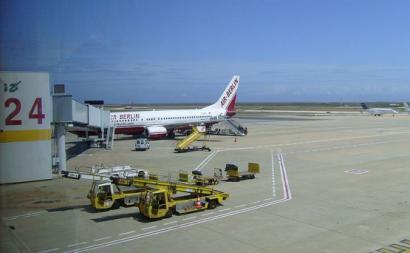 Imagem do aeroporto de Faro em 2008.