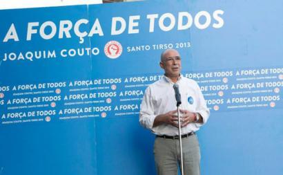Joaquim Couto em campanha.
