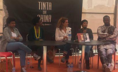 Debate na feira do livro, foto de Bárbara Bulhosa (da sua página no facebook)