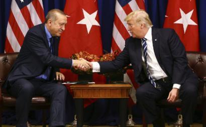 Donald Trump e Recep Tayyip Erdogan, encontro em setembro de 2017