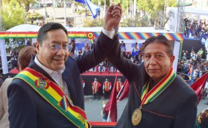 Lucho Arce e David Choquehuanca