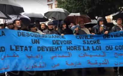Manifestação em Bejaia, durante a greve geral