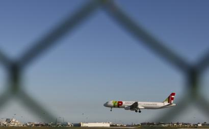 Avião da TAP. Foto de Mário Cruz/Lusa.