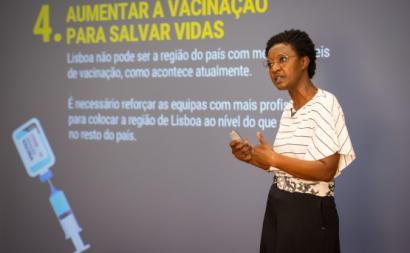 Beatriz Gomes Dias apresentou dez medidas para combater a pandemia, 26 de junho de 2021 – Foto de José Sena Goulão/Lusa