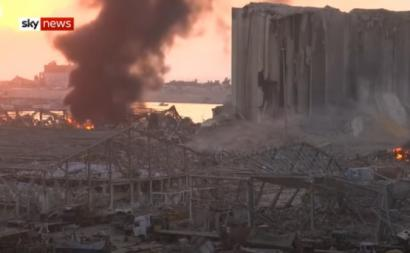 Explosões em Beirute.