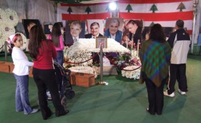 Mausoléu de Rafic Hariri, em 2011, na Mesquita de Al Amin, Beirute. Foto de José Manuel Rosendo