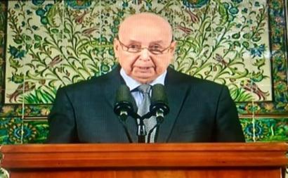 Bensalah foi à televisão no domingo 15 para convocar as eleições presidenciais em dezembro