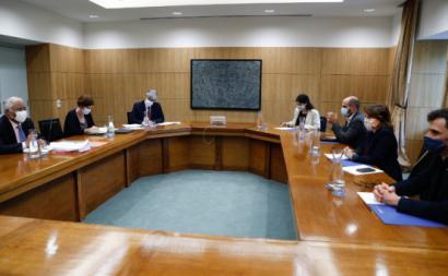 Reunião da delegação do Bloco de Esquerda com o Governo, segunda-feira 25 de maio de 2020, foto de António Cotrim/Lusa