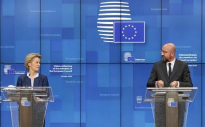 Ursula von der Leyen e Charles Michel. Foto: European Council @