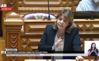 Catarina Martins no debate com o ministro do Ambiente
