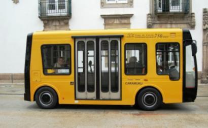 Caramuru, o autocarro elétrico de Viana do Castelo. Foto da Câmara Municipal de Viana do Castelo.