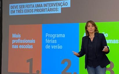 Catarina Martins apresentou esta segunda-feira nove medidas para recuperar aprendizagens e desenvolvimento dos alunos - foto esquerda.net