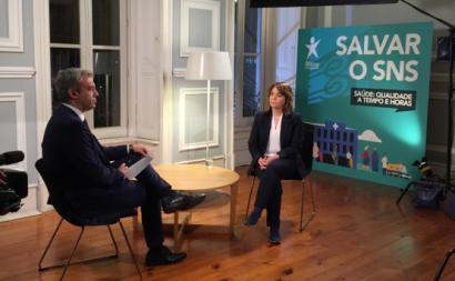 Catarina Martins foi entrevista pelo jornalista Carlos Daniel, para a RTP - Foto esquerda.net