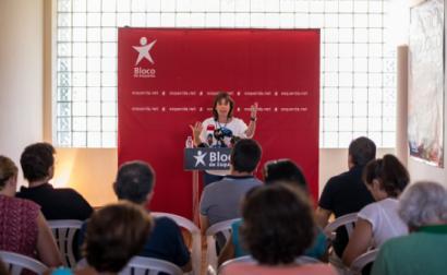 Catarina Martins inaugurou a sede do Bloco em Fafe e defendeu a necessidade de investir nos serviços públicos em todo o território - Foto de Octávio Passos/Lusa