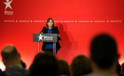 Catarina Martins na apresentação da candidatura do Bloco em Braga – Foto de Hugo Delgado/Lusa