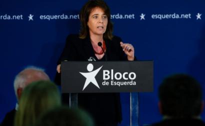 Catarina Martins na comemoração do 21º aniversário do Bloco de Esquerda - Foto de José Coelho/Lusa