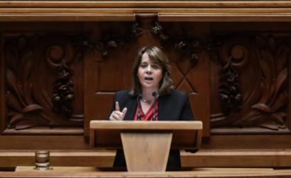 Catarina Martins no debate do Estado da Nação, 24 de julho de 2020 - Foto de Mário Cruz/Lusa