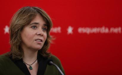 Catarina Martins na conferència de imprensa, 30 de janeiro de 2021 - Foto de Tiago Petinga/Lusa