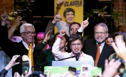 Claudia López, nova presidente da Câmara de Bogotá, eleita este domingo - Foto de Mauricio Duenas Castaneda/Epa/Lusa