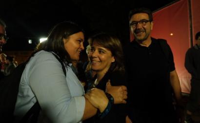 Catarina Martins no comício de verão do Bloco em Barcelos. Foto de Paula Nunes.