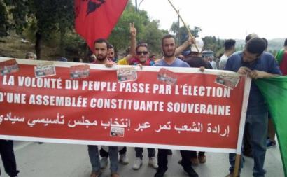 Manifestantes defendem a convocação de uma Assembleia Nacional Constituinte