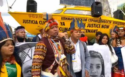 Ativistas indígenas à porta da COP25