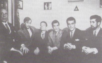 Humberto Delgado e companheiros em Argel, em 31 de janeiro de 1965, antes de partir para Badajoz.